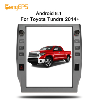 4+64 Tesla style 1 din Android 8.1 car player radio stereo GPS For Toyota Tundra 2014-2018 navigation multimedia headunit stereo