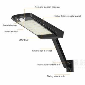 Image 2 - 2020 새로운 56 led 태양 빛 야외 방수 태양 램프 모션 센서 벽 빛 거리 정원 보안 원격 스포트 라이트 #