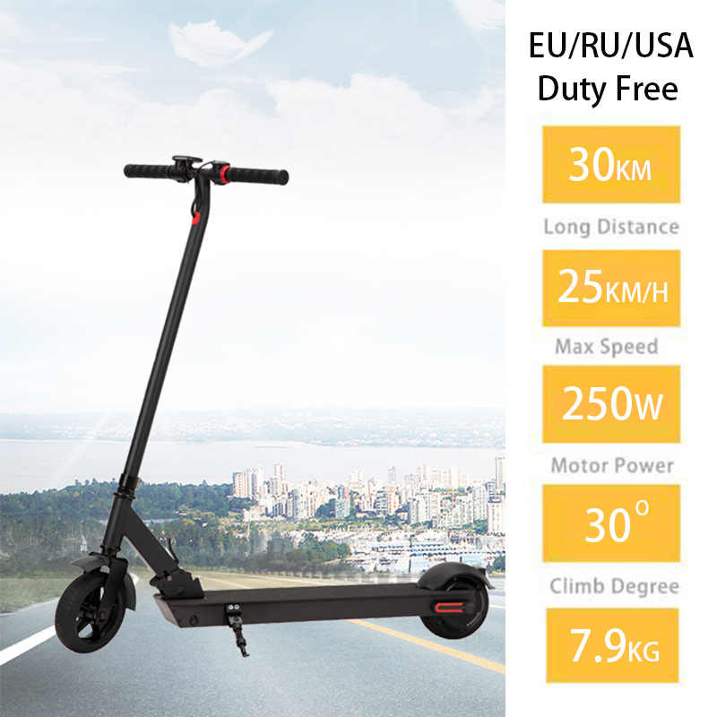 "JS 36V Electric Scooter 6.5"" Motor Wheel 7.5kg Ultraligh Adult Folding Patinete Electric Skateboard Kick E Scooter Houverboard"