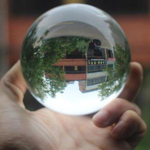 100mm Kristall Ball Weihnachten Kristall Ball Klar Kronleuchter Objektiv Ball Kristall Glas Ball Für Kugel Fotografie Hause Dekoration