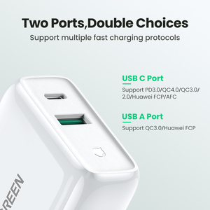 Image 2 - Ugreen 36W Fast USB Charger Quick Charge 4.0 3.0 Type C PD Fast Charging for iPhone 12 USB Charger with QC 4.0 3.0 Phone Charger
