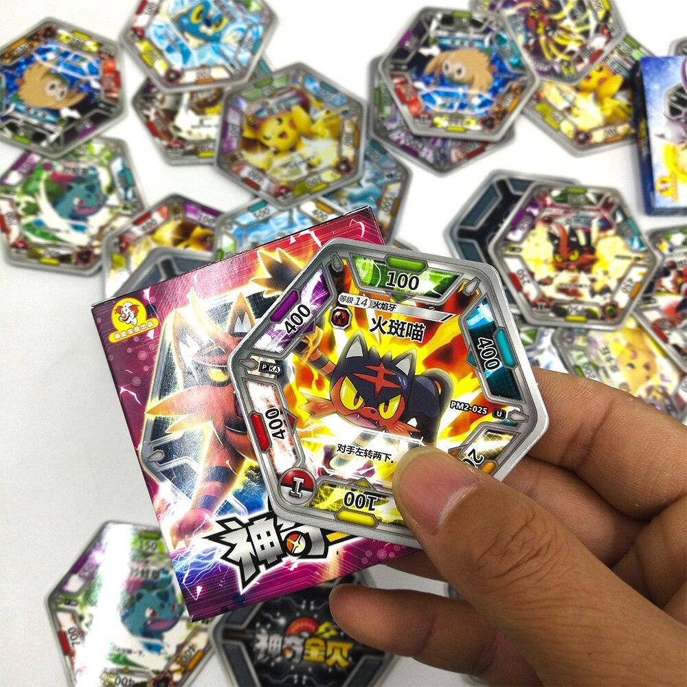 TAKARA TOMY jouets Pokemon cartes Collections Pikachu 168 pièces brillant carte Flash 7 pièces/boîte 24 box/ensemble jeu de société pour enfants cadeau