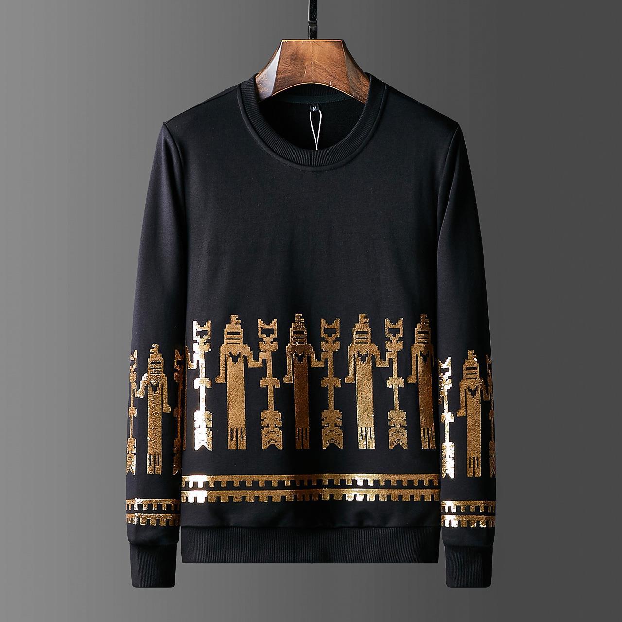 2019 Mens Autumn Clothing Gilding Sequined Hoodies Full Pullover Sweatshirts Casual Streetwear Black Hoodie Men Ropa De Hombre