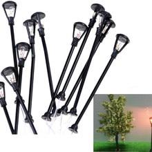 10pcs/set Model LED Street Lamp Lighting Single Head Train Layout Toys