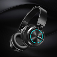 B6 Wireless Headphones Bluetooth 4.1Headphone 12H Playing time Stereo Glowing Headset Earphone Support TF Card With Mic For PC A