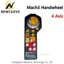 Mach3 4 eixos mpg pingente volante rotativo gerador de pulso codificado para cnc roteador newcarve
