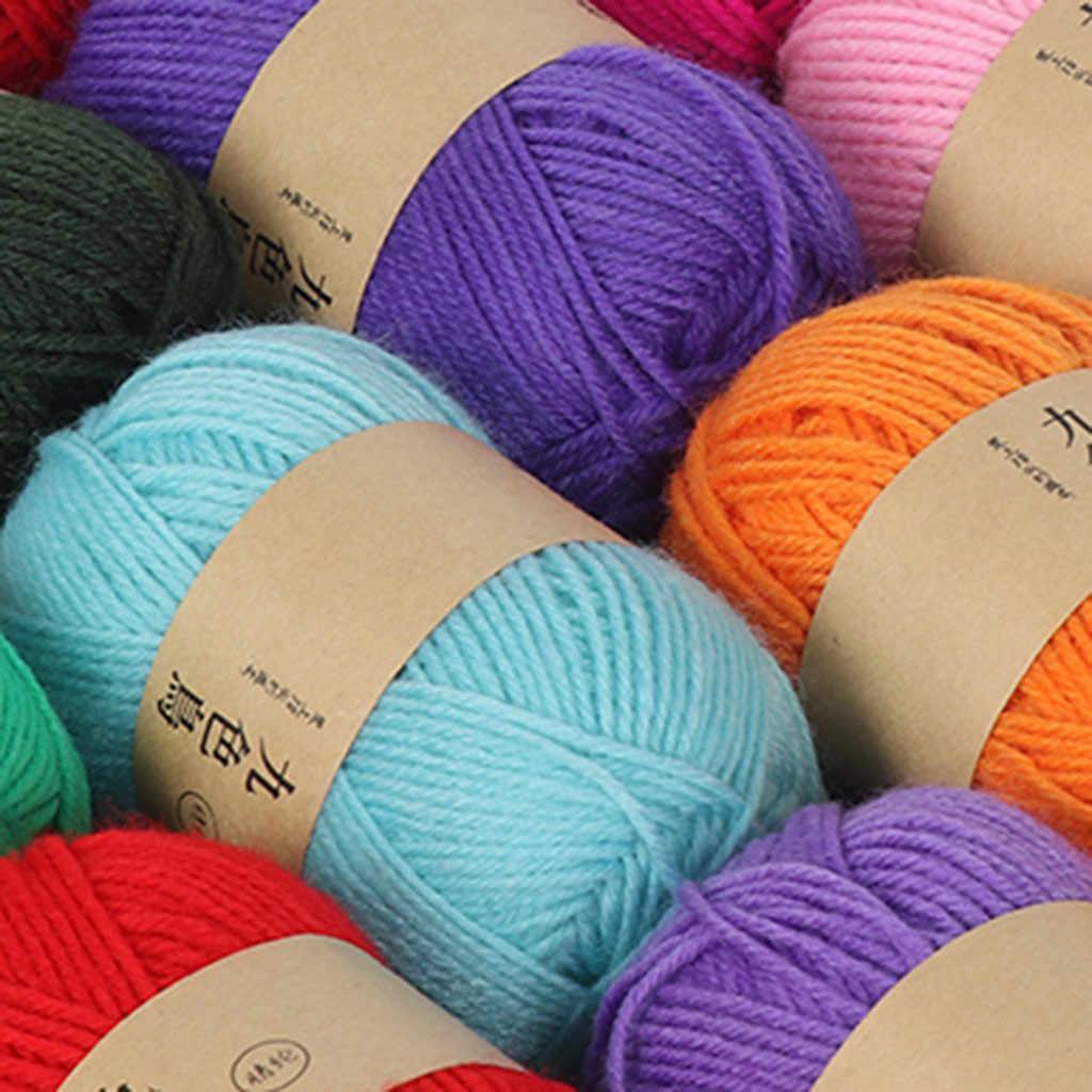 Len Nhóm Acrylic Dòng Móc Tự Làm Đệm Dày Vừa Phải Búp Bê Móc Giày Dòng Len Nhà Cầm Tay Nữ Dệt Kim áo Len Lông Cừu Dòng