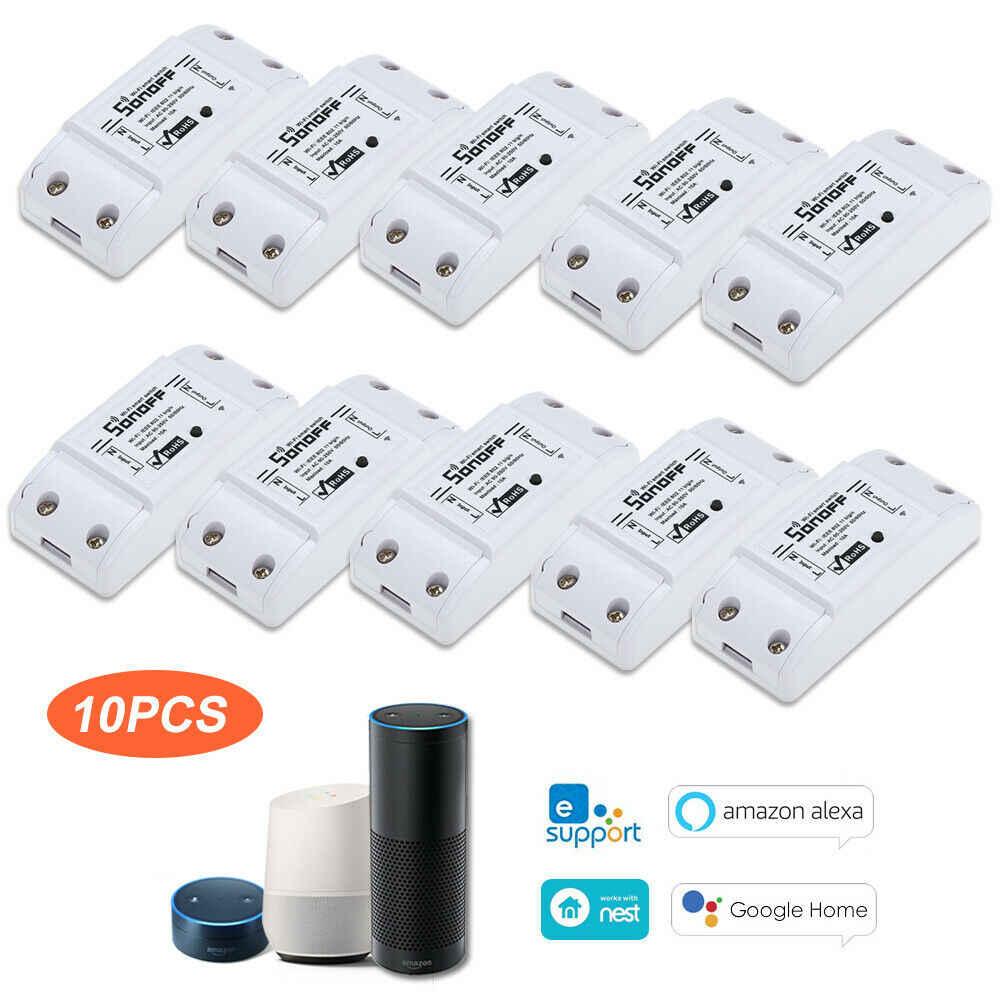 10PC Ssonoff podstawowe Wifi przełącznik uniwersalny dla inteligentnego domu przełącznik Wifi moduł automatyki zegar Diy pilot zdalnego sterowania dla iphone z systemem ios
