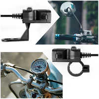 Dual USB 9V-24V Motorcycle Handlebar Charger Socket With Switch & Double Mounts Waterproof Motos Equipment Mobility Motocicleta