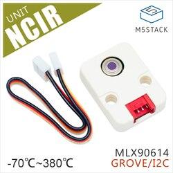 M5Stack официальный NCIR блок MLX90614 бесконтактный датчик температуры модуль-70 °C ~ 380 °C роща I2C разработка платы