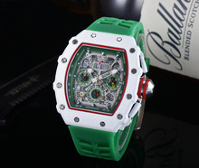 2020 nowy Richard męskie zegarki Top marka luksusowe zegarki męskie Mille DZ mężczyzna zegar kwarcowy automatyczne zegarki na rękę tanie tanio ZHIMO 20inch Moda casual QUARTZ Nie wodoodporne Klamra CN (pochodzenie) STAINLESS STEEL 20mm Hardlex Kwarcowe Zegarki Na Rękę