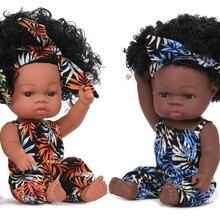 Новые 35 см в африканском стиле reborn baby doll waterprof черный