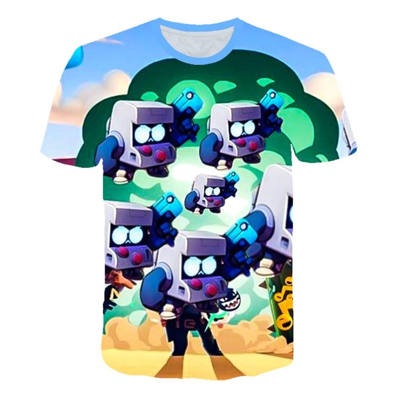 Shooting Games Brawls Leon 3D Print Shirt Kids Tshirt Gift For Child T Shirt Boy Girl Anime Short Sleeve Carton Star Top 3T-14T