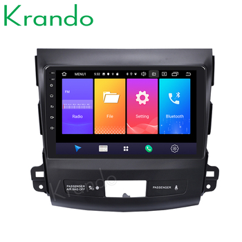 Krando Android 9.0 9 IPS Touch car radio multimedia player for Mitsubishi Outlander 2006-2012 navigtaion system No 2din DVD image