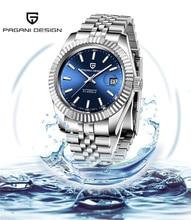 Reloj Mecánico PAGANI de diseño de la mejor marca para hombres, reloj de negocios japonés Citizen 8215 para hombres, reloj de acero inoxidable zafiro