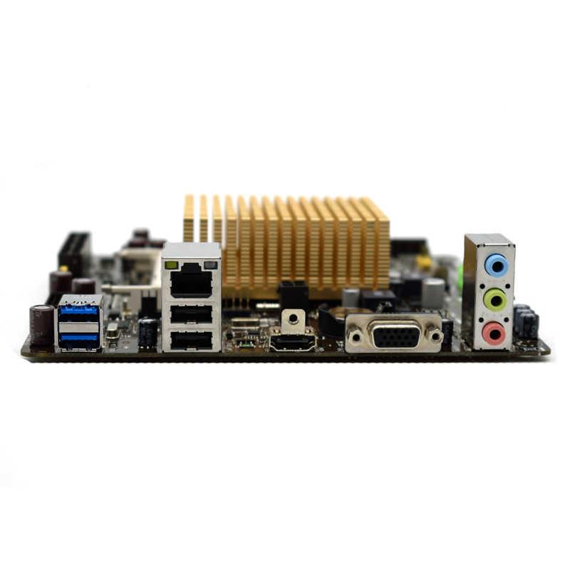 Dla płyty głównej ASUS ITX J1800-K/K30-J/DP DDR3 17*17 Mini płyta zintegrowana J1800 dwurdzeniowy procesor DDR3 HDMI Synology nas