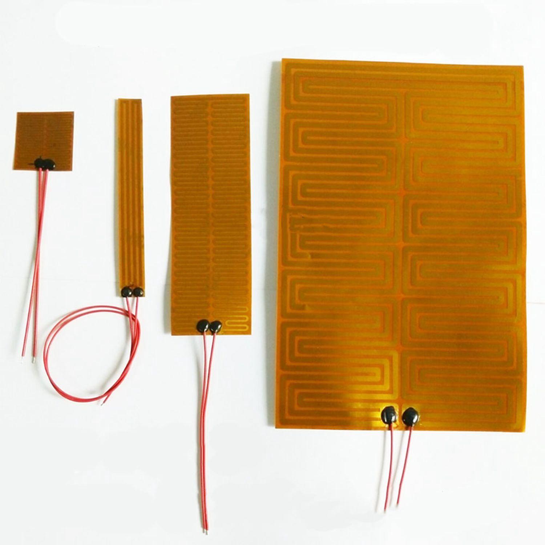 14-300mm 12V 24V  Eeletric PI Polyimide Film Heater Heating Element For 3D Printer Oil Tank Car Defrosting Defogging