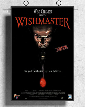 L294 WISHMASTER Movie 1997 Wes Craven Silk Fabric Poster Art Decor Indoor Painting Gift image