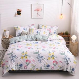 Image 5 - Solstice Juego de cama de celosía a rayas blancas y negras, funda de edredón de lino para niños y niñas, sábana para cama, funda de almohada