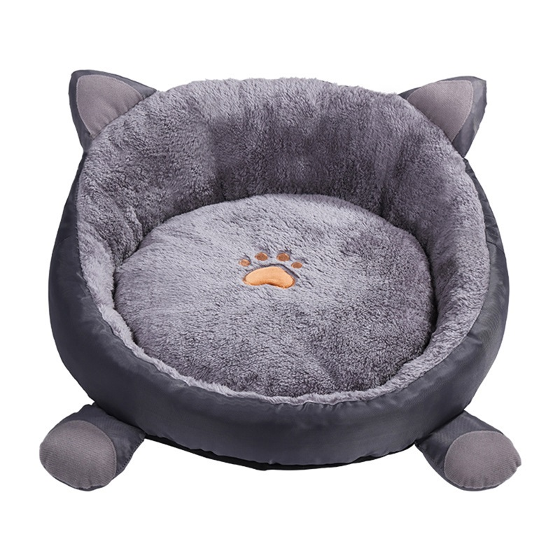 1PCS Cute Warm Pet Cat Nest Winter Soft Dog Cat Bed Nest Cushion Kennel Cat Bed For Small Medium Dogs in Cat Beds Mats from Home Garden