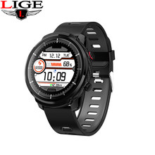 LIGE 2019 New Waterproof Sports mode Bluetooth Smartwatch Men Pedometer Heart rate monitor Blood Pressure Fitness Tracker Watch(China)