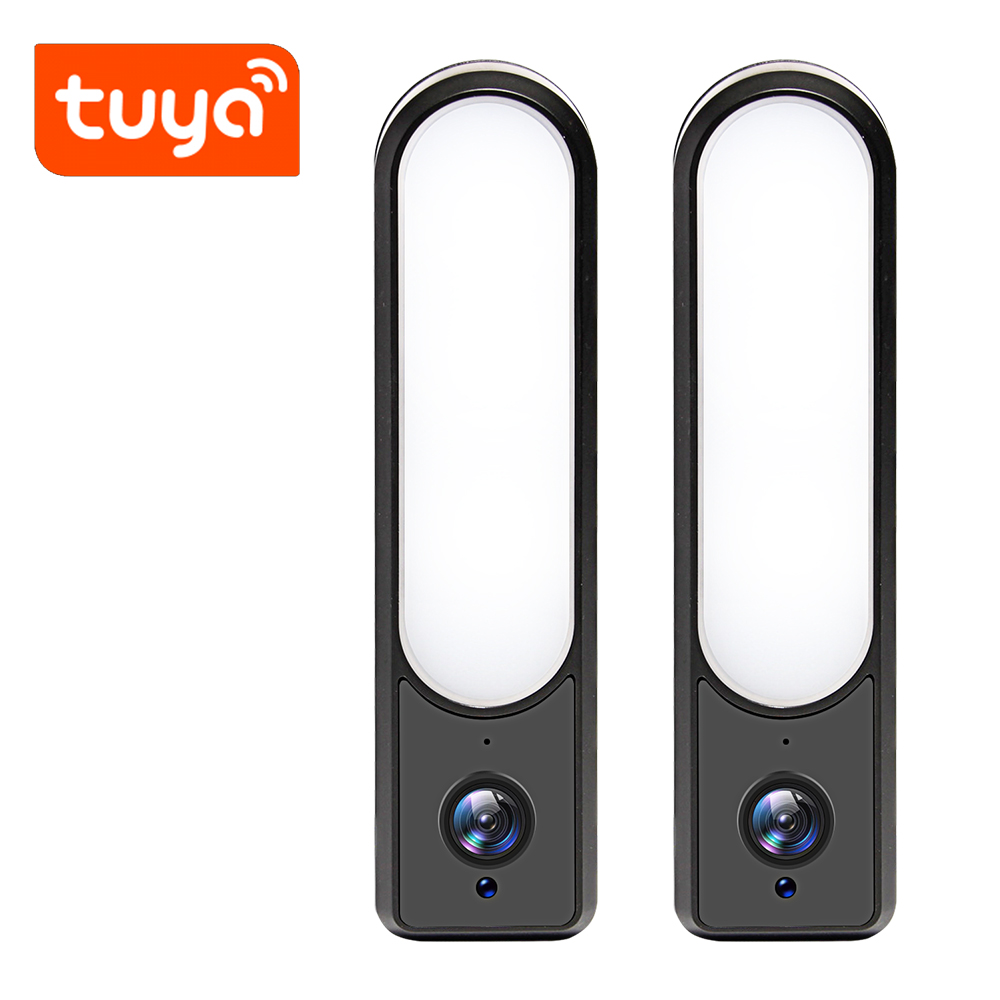 INQMEGA Tuya Security IP Camera Full HD Wifi Outdoor Door Camera IP65 With Build In Alarm Two Way Audio PIR Detection Cam