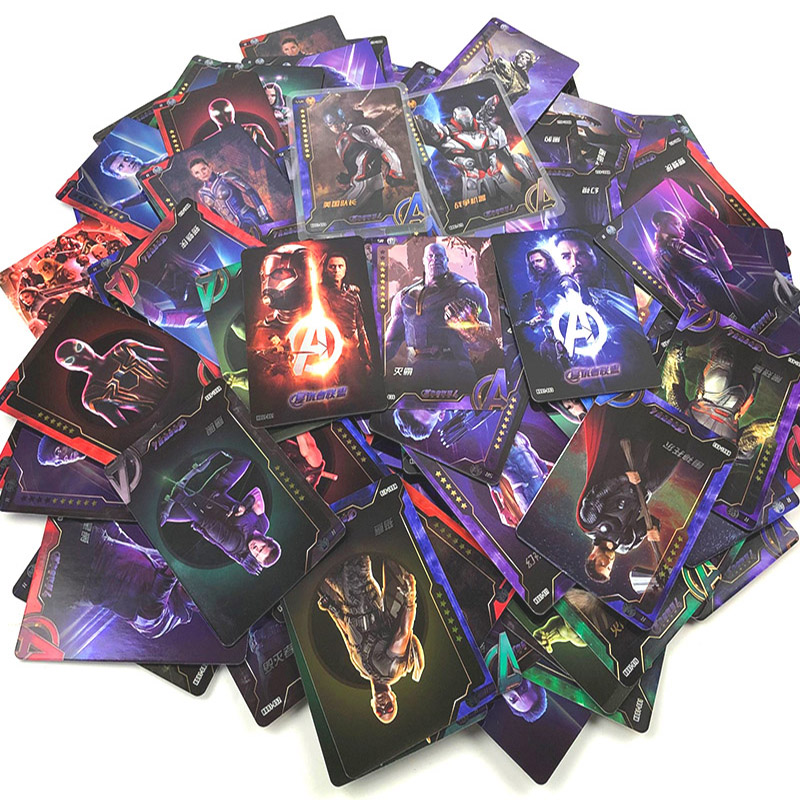 240pcs Miracle Avengers 3 Infinite War Thanos Captain Iron Man Raytheon Spider-Man Leopard Collection Card