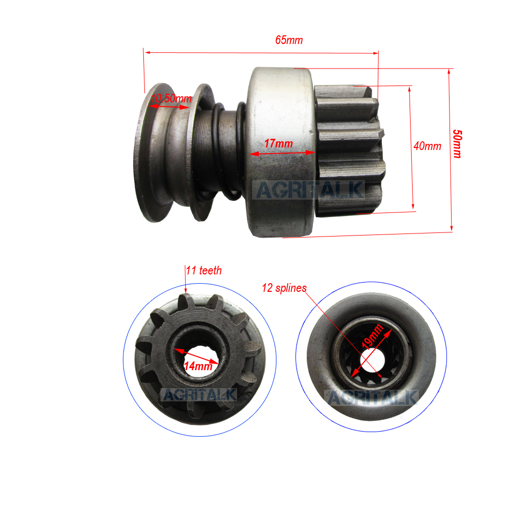 Bendix (drive Pinion) For Starter Motor (non Gear Reduction Type) QD132A Suitable For Laidong LL380 Engine,check With Us First