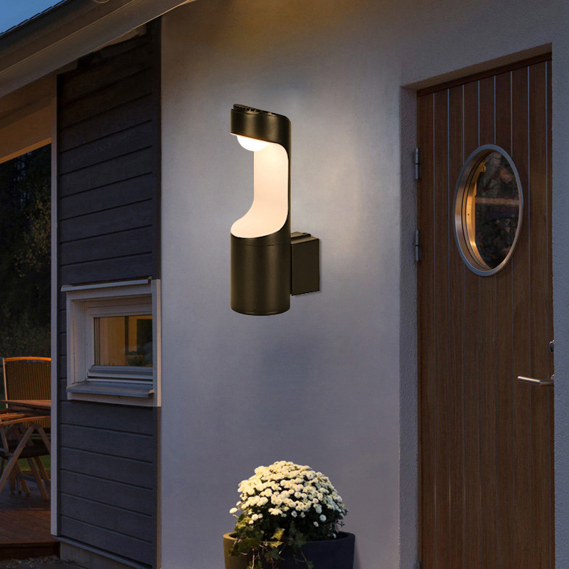 7W LED Outdoor Waterproof Walkway Front Door Garden Porch Wall Light Modern Indoor Bedroom Corridor Wall Lighting AC90 260V|Outdoor Wall Lamps| |  - title=