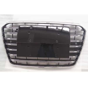 Image 1 - A5 Chrome Frame Black Front Bumper Mesh Grill Guard For Audi A5 RS5 S5 S Line 2012 2016 S5 Styling