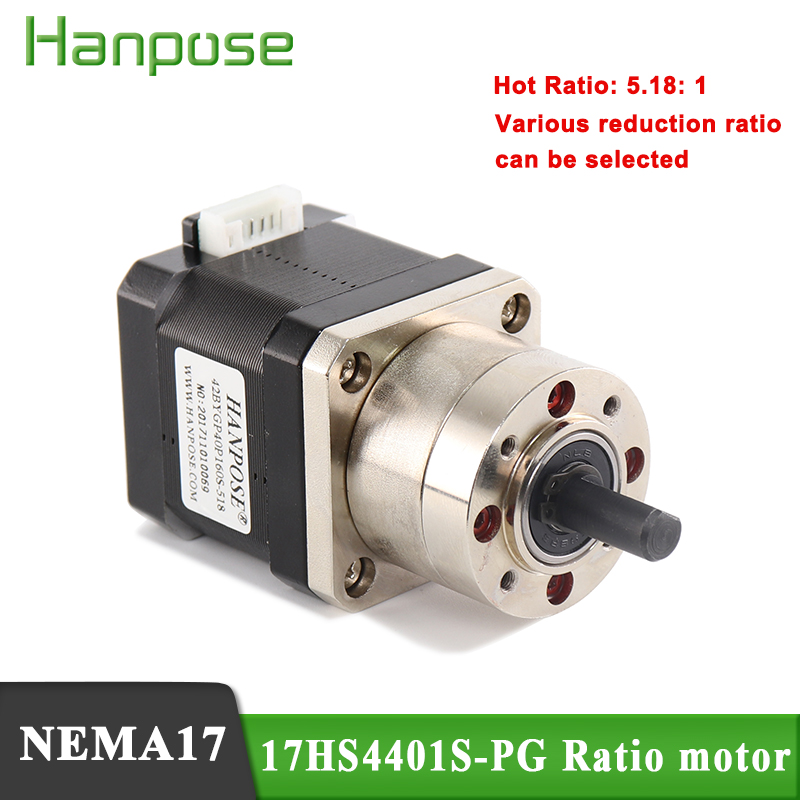 Best Price Extruder <font><b>Gear</b></font> Stepper <font><b>Motor</b></font> Ratio 5.18:1 Planetary Gearbox <font><b>Nema</b></font> <font><b>17</b></font> 17HS4401S-PG Step <font><b>Motor</b></font> OSM Geared For 3D Printer image