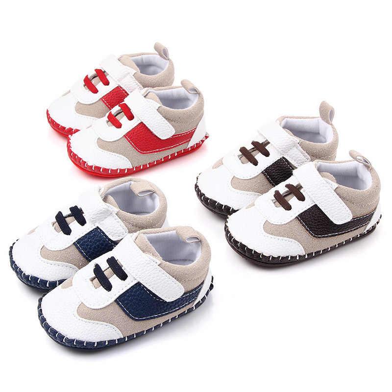 אופנה מזדמן תינוק ילד נעליים עבור 1 שנה ישן PU החלקה יילוד נעלי פעוטות לראשית הליכונים תינוקות תינוק Schoenen