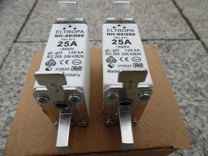 3 Piece Eltropa NH 3 Fuse Set 400A500V ~120kA 791 589