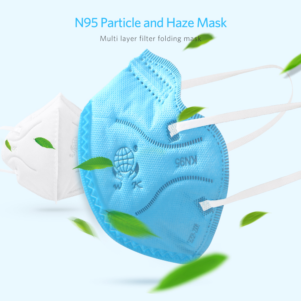 50/100pcs KN95 Masks Protective Fold Face Mask Anti-dust Bacterial Proof Filter Cover PPE Labor Protection Safety Respirator
