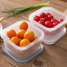 Холодильник коробка для хранения фруктов квадратная сливная