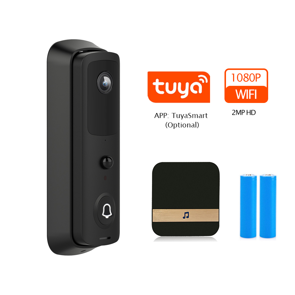 TUYA Option Video Doorbell Camera 1080P HD IP WIFI Doorbell Intercom Outdoor Wireless Smart Home Security Camera Night Vision|Doorbell| - AliExpress