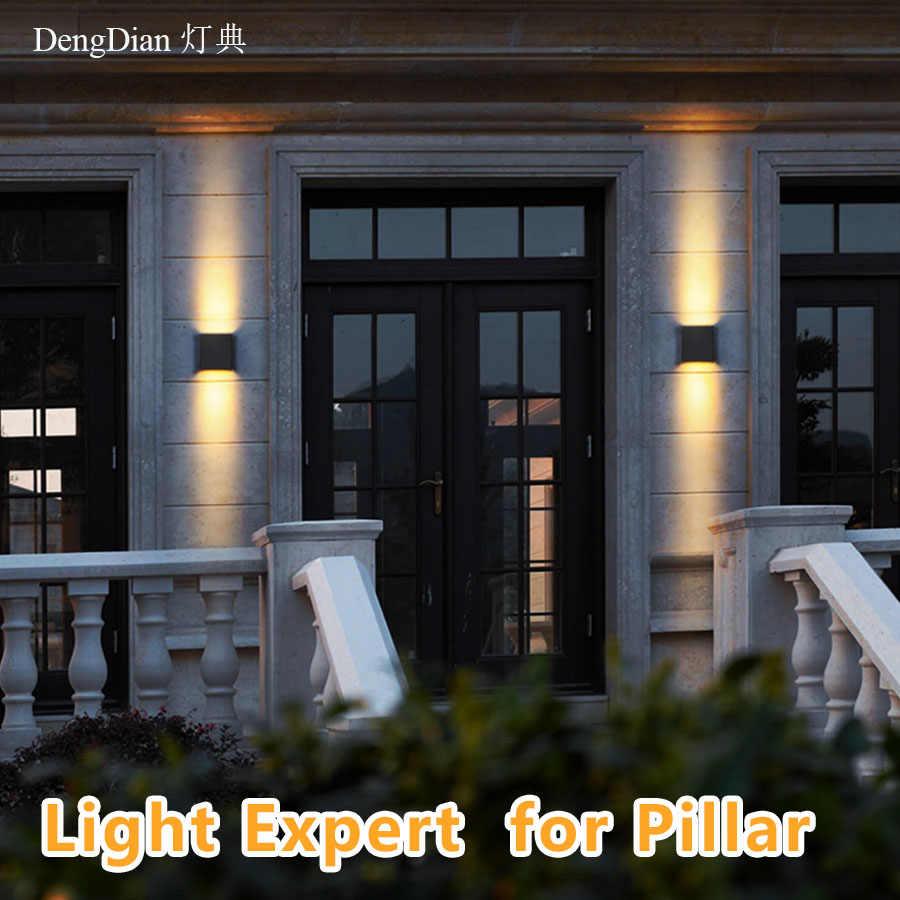 Moderne Up En Down Led Aluminium Wandlamp IP65 Tuin Wandlampen Outdoor Verlichting Decoratie Voor Balkon Hal Voordeur