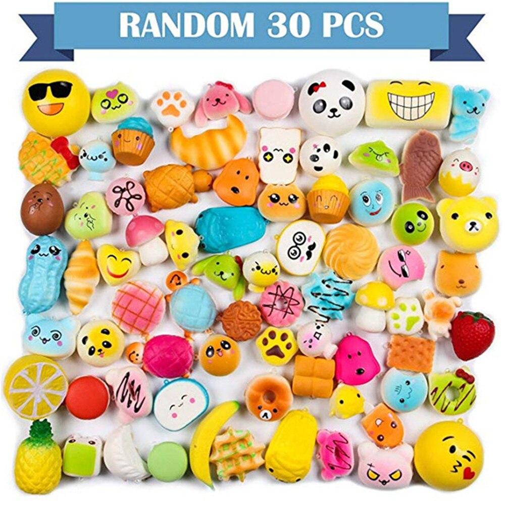 Random 30 pçs squishy sorvete scented lento subindo simulação kawaii adorável brinquedo comida macia squishi gelo brinquedo squishies