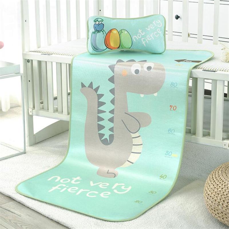 3D Digital Print Summer Breathable Ice Silk Mattresses Non-Skid Baby Crawl Carpet Blanket Summer Sleeping Mat