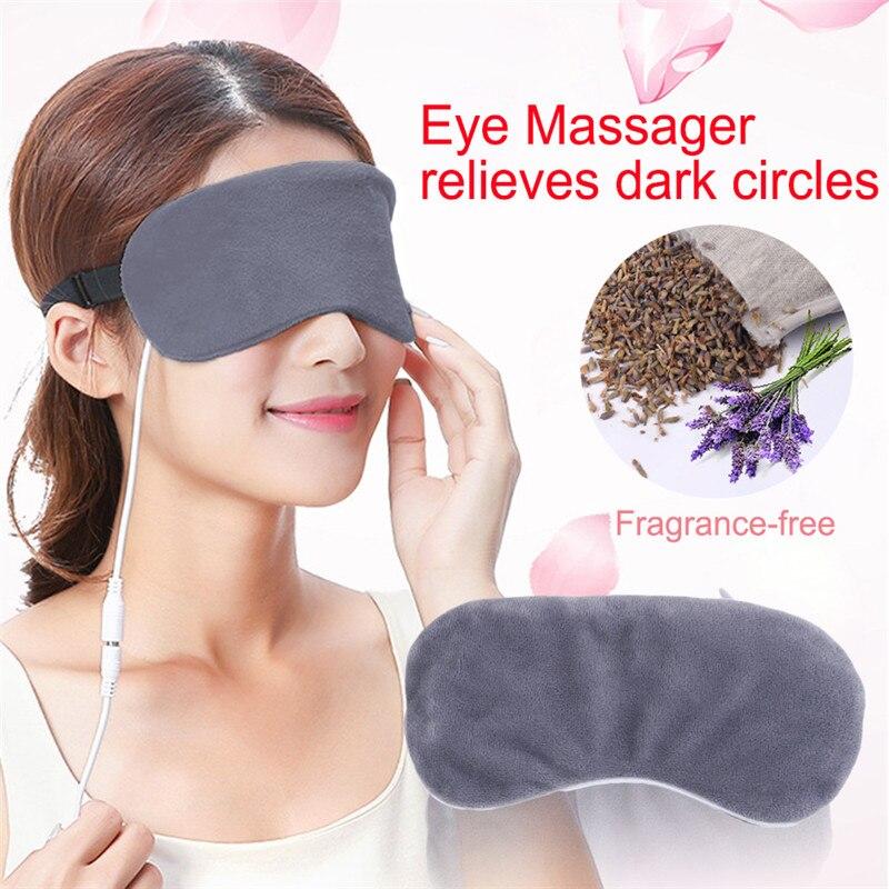 Паровой наглазник с подогревом от USB, Лавандовая маска для глаз, маска против темных кругов, пластырь для глаз, массажер для глаз, облегчающа...