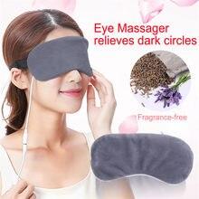 Usb aquecimento a vapor máscara de olho lavanda anti círculo escuro olho remendo massageador olho alívio fadiga sono viagem máscara de olho