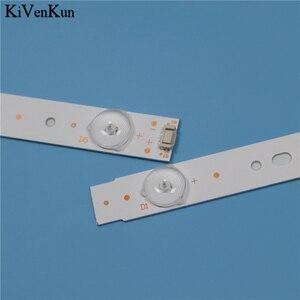 Image 2 - TV Lamp LED Backlight Strips For Telefunken TF LED43S27T2 Bar line Kit LED Band Array 5800 W43001 5P00 VER02.00 5800 W43001 3P00