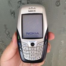 원래 노키아 6600 화이트 휴대 전화 잠금 해제 2G GSM Triband 영어 러시아어 아랍어 키보드