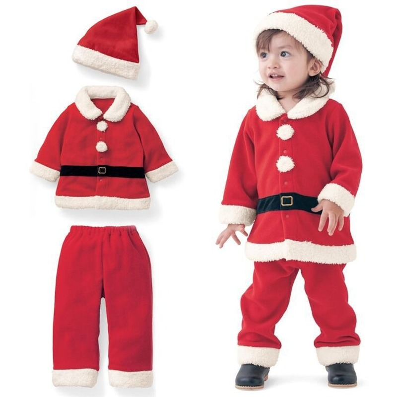 2021 Children's Clothing New Year Christmas Clothing Boys and Girls Dress Up Santa Claus Clothes Christmas Costumes Kids Clothes 2