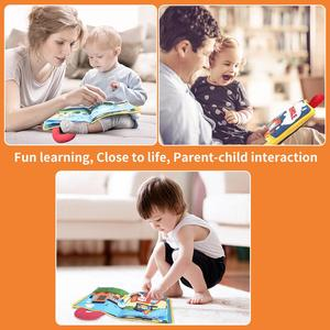 Image 4 - Beiens 3D Soft Cloth Baby Books Animals&Vehicle Montessori Baby Toys For Toddlers Intelligence Development Educational Toy Gifts