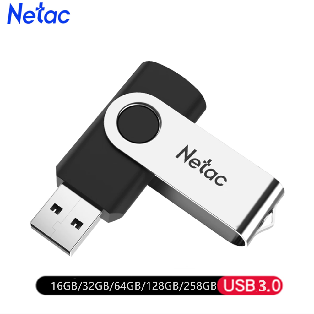 Netac Memory-Stick Pen-Drive Usb-Key Mental 16GB 32GB 64GB Black-Color