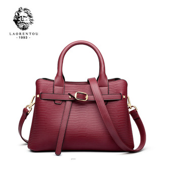 LAORENTOU women leather bag  2020 new Korean shoulder bag Fashion handbag Women bag