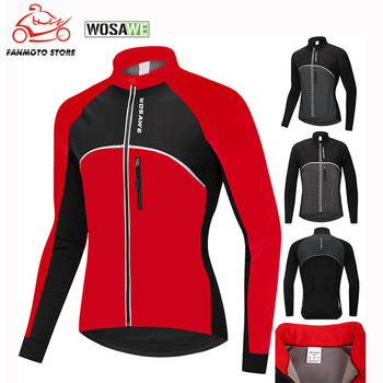 WOSAWE Motorcycle Jackets Winter Cycling Jacket Warm Bicycle Clothing Rain Windproof Waterproof Jersey Coat MTB Bike Jacket Men ultra light hooded bicycle jacket bike windproof coat road mtb aero cycling wind coat men clothing quick dry jersey thin jackets