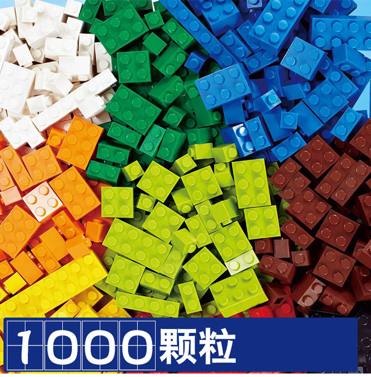 <font><b>1000pcs</b></font> Classic Building Blocks Compatible <font><b>Lego</b></font> City DIY Creative Bricks Model Figure Educational Children Toys Small Size image