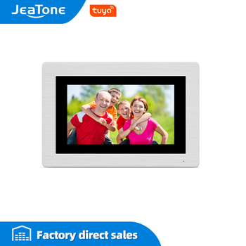 JeaTone 7 inch WIFI IP Video Door Phone Intercom Wired Single monitor Access Control System Touch Screen Motion Detection wifi ip wireless video door phone intercom door bell access control system touch screen motion detection support smoke sensor